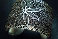 Sterling Silver Filigree Bracelets / Dimension 5.0 x 6.0 x 5.0 cm / BR 00021