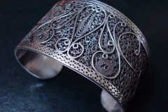 Sterling Silver Filigree Bracelets / Dimension 5.0 x 5.0 x 4.0 cm / BR 00008