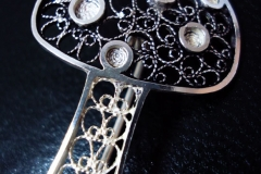 /Muscaria/ Sterling Silver Filigree Brooches / Dimension 3.5 x 2.5 cm