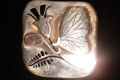 Sterling Silver Filigree Brooches / Dimension 4.0 x 4.0 cm / BRO 00003