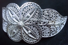 /Class-Flower/ Wedding Sterling Silver Filigree Brooches / Dimension 10.0 x 4.0 cm
