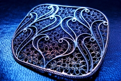 /Fibo-bX/ Sterling Silver Filigree Brooches / Dimension 5.3 x 4.4 cm