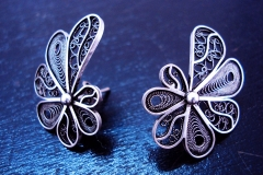 /Tin-E/ Sterling Silver Filigree Earrings / Dimension 3.0 x 2.5 cm
