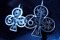 /D`Vincic/ Sterling Silver Filigree Earrings / Dimension 3.5 x 3.0 cm
