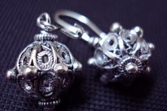 Sterling Silver Filigree Earrings / Dimension 1.8 x 0 x 0 cm / EA 00004