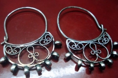 Approximate copy of an Ancient Macedonian Earrings IVth century Silver Filigree Earrings / Dimension 4.5 x 3.5 cm