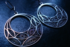 /Round Eyes/ Sterling Silver Filigree Earrings / Dimension Round 3.6 x 1.6 cm