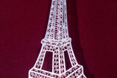 """Eiffel Tower-La Tour Eiffel"" Courtesy of French Embassy in Macedonia for president of France ""François Hollande"" Sterling Silver Filigree Forms / SF 00023 Dimension 16.0 x 6.5 cm"