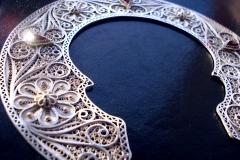 """Sv.Naum Ohridski"" Courtesy of Monastery Sv.Jovan Bigorski , for the Sv.Sofia-Crigrad Konstantinopol, Turkey-Istanbul Sterling Silver Filigree Forms / Dimensions 14.3 x 14.3 cm"