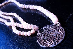 /Maya-N3/ Sterling Silver Filigree Necklaces / Dimension 45.0 x 4.0 cm Ohrid Pearls