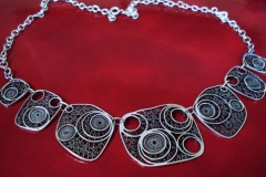 Sterling Silver Filigree Necklaces / Dimension 45.0 x 4.5 cm / NE 00049