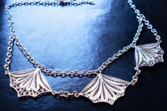 Sterling Silver Filigree Necklaces / Dimension 45.0 x 5.0 cm / NE 00050