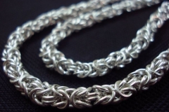 Sterling Silver Filigree Necklaces / Dimension 42 cm x 0.5 cm