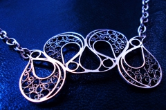 /4 Eyes/ Sterling Silver Filigree Necklaces / Dimension 6.0 x 4.0 x 45.0 cm