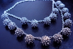 /Gali-Recon/ Sterling Silver Filigree Necklaces / Dimension 55.0 x 45.0 x 3.0 cm