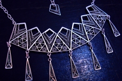 /Lines-IF/ Sterling Silver Filigree Necklaces / Dimension 45.0 x 12.0 x 6.0 cm
