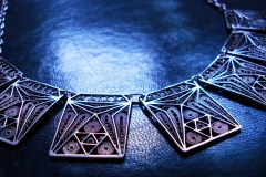 /Tetra Line-N/ Sterling Silver Filigree Necklaces / Dimension 3.0 x 45.0 cm