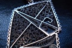 Sterling Silver Filigree Pendant / Dimension 5.0 x 3.5 cm / NE 00059