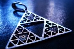 /Triangle Eye-W/ Sterling Silver Filigree Pendant / Dimension 4.0 x 4.0 x 1.0 cm