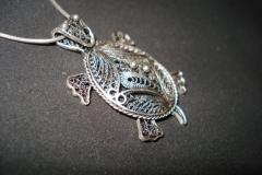 Sterling Silver Filigree Pendant / BRO 00001