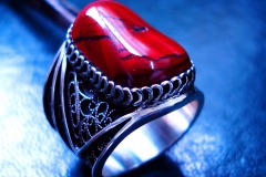 /G-Jas/ Sterling Silver Filigree Rings / Dimension 2.1 x 0.2 cm / Jasper free-form 1.8 x 1.3 cm