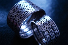/Zip/ Sterling Silver Filigree Rings / Dimension 1.2 x 0.2 / 0.9 x 0.2 cm