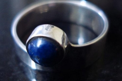 Sterling Silver Rings / Graceful Style / Lapis Lazuli-Round 0.4cm / Dimension 0.8 x 0.4 cm