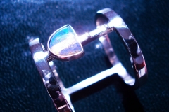 /AM-Opal/ Sterling Silver Rings / Dimension 2.4 x 0.2 cm / Matrix Opal 0.6 x 0.4 cm