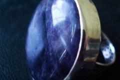 Sterling Silver Filigree Rings / Dimension 3.0 x 0.7 cm Amethyst Light Round 3.0 cm / RI 00050
