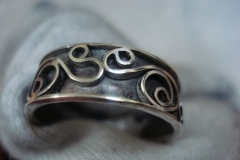 Sterling Silver Filigree Rings / Dimension 0.8 x 0.2 cm / RI 00001
