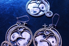 /Ordinary Bicycle Om/ Sterling Silver Filigree Sets / Dimension 1.5 x 5.0 x 5.0 cm