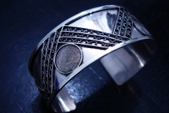 /Mac-G/ Sterling Silver Filigree Bracelet / Dimension 5.0 x 6.0 x 5.0 cm