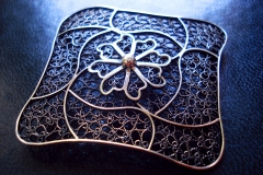 /Bro-Bro/ Sterling Silver Filigree Brooches / Dimension 5.0 x 5.0 cm