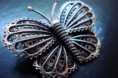 /Small Butterfly/ Sterling Silver Filigree Brooches / Dimension 4.3 x 3.0 cm