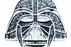 /DARTH VADER/ Sterling Silver Filigree Brooches / Dimension 5.6 x 4.6 cm