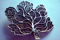 /M-Sheet/ Sterling Silver Filigree Brooches / Dimension 7.0 x 9.0 cm
