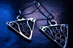 /Dr-Mi/ Sterling Silver Filigree Earrings / Dimension 1.5 x 2.0 x 2.0 cm