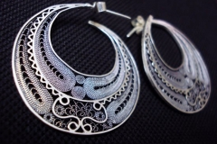 Sterling Silver Filigree Earrings / EA 00016 Dimension 0 x 0 cm