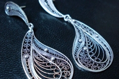 Sterling Silver Filigree Earrings Dimension 7.0 x 3.0 cm / EA 00018