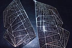 Sterling Silver Filigree Earrings / EA 000374 Dimension 1.8 x 10.0 x 6.0 cm Belgrade Fashion Week 2011