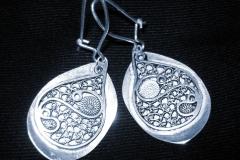 /Ta-Ta/ Sterling Silver Filigree Earrings / Dimension 7.0 x 3.0 cm