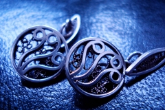 /Ka-Small/ Sterling Silver Filigree Forms / Dimension 1.0 x 1.0 cm