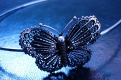 /Butterfly Wreath/ Sterling Silver Filigree Forms / Dimension 15.0 x 15.0 x 4.0 cm