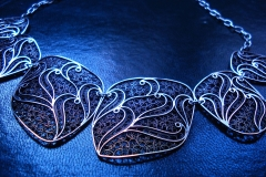 /Fibo-nX/ Sterling Silver Filigree Necklaces / Dimension 4.0 x 45.0 cm