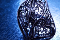 /Em-R/ Sterling Silver Filigree Rings / Dimension 3.2 x 2.7 cm