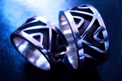 /Lines-T/ Sterling Silver Filigree Rings / Dimension 1.2 x 0.2 cm