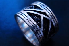 /Lines-S/ Sterling Silver Filigree Rings / Dimension 1.2 x 0.2 cm
