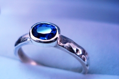 /T-Iv/ Sterling Silver Rings / Dimension 0.4 x 0.2 cm /  Tanzanite facet 0.6 x 0.4 cm