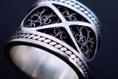 /Infinity/ Sterling Silver Filigree Rings / Dimension 1.0 x 0.2 cm