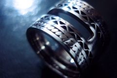/IRistic-2/ Sterling Silver Filigree Rings / Dimension 1.2 x 0.2 cm